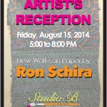 Third Friday Opening Reception, Works on Paper by Ron Schira, August 15th, 5-8pm